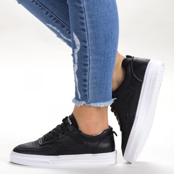 Pantofi Sport Dama 533 PSD Black Sport Fashion