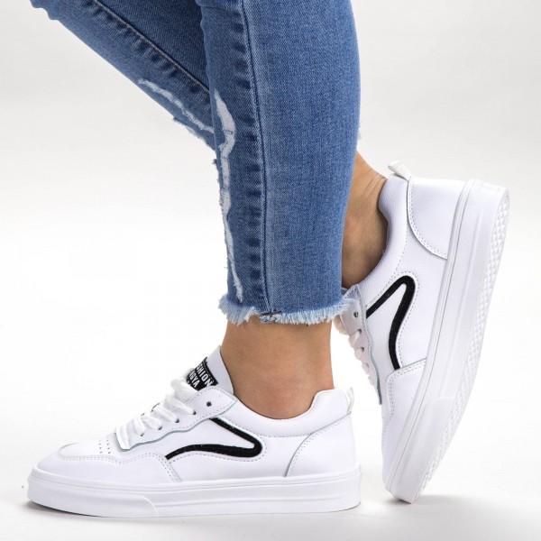 Pantofi Sport Dama 533 PSD White Sport Fashion