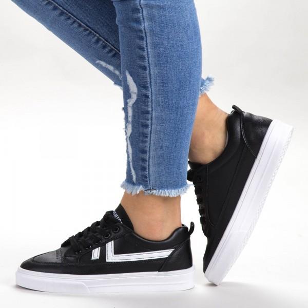 Pantofi Sport Dama 535 PSD Black Sport Fashion