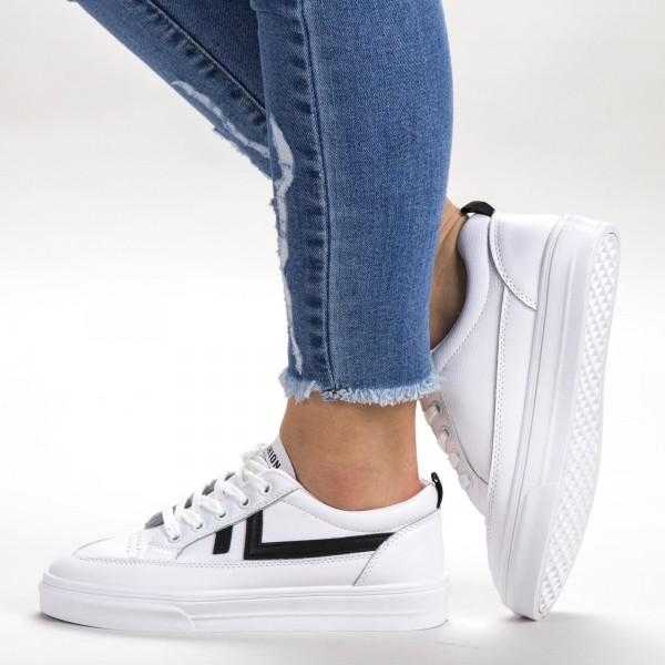 Pantofi Sport Dama 535 PSD White Sport Fashion