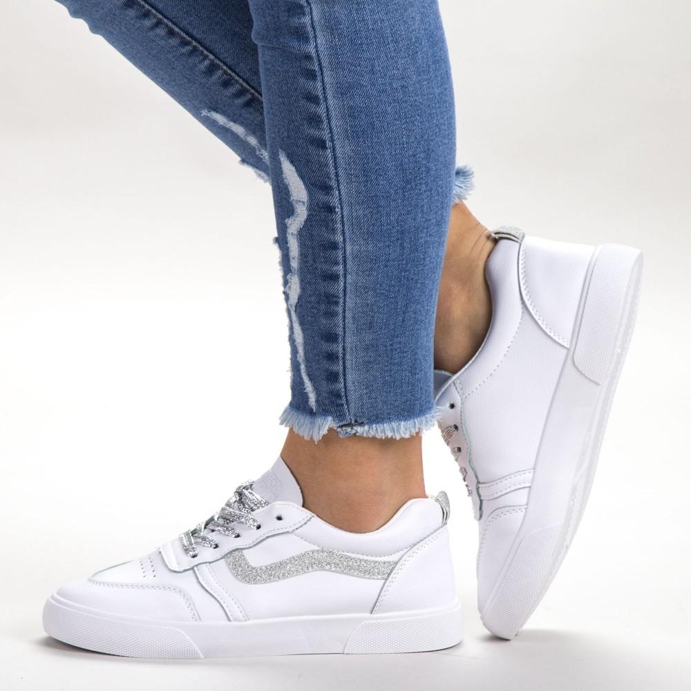 Pantofi Sport Dama 536 PSD White Sport Fashion