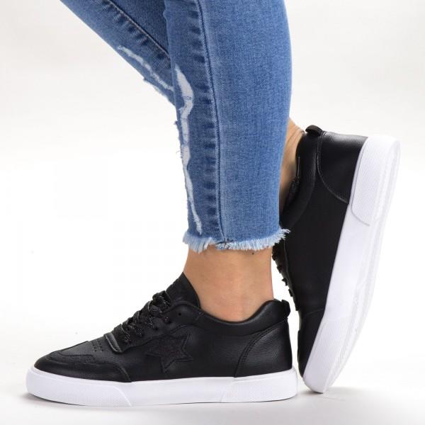 Pantofi Sport Dama 537 PSD Black Sport Fashion
