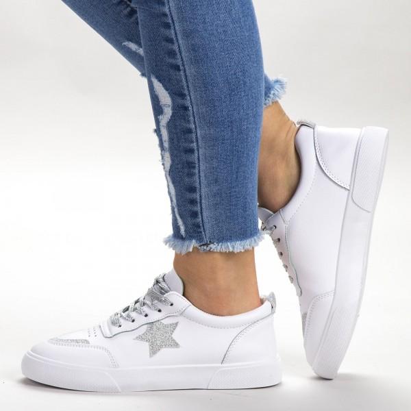 Pantofi Sport Dama 537 PSD White Sport Fashion