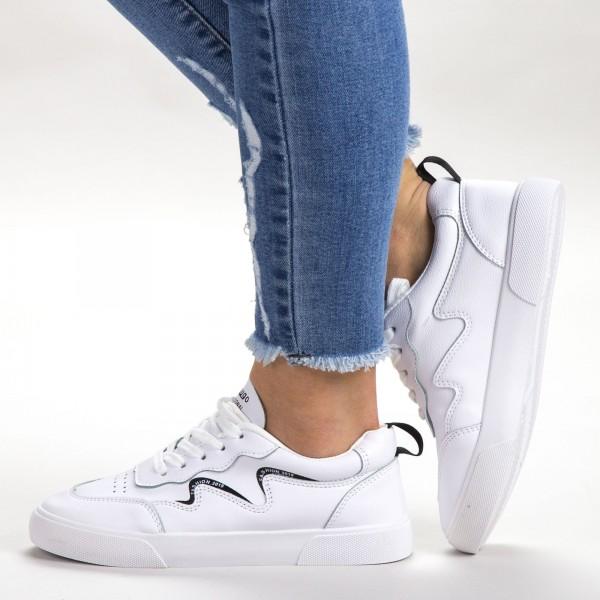Pantofi Sport Dama 538 PSD White Sport Fashion