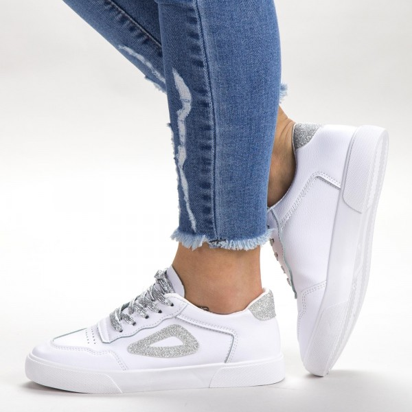 Pantofi Sport Dama 539 PSD White Sport Fashion