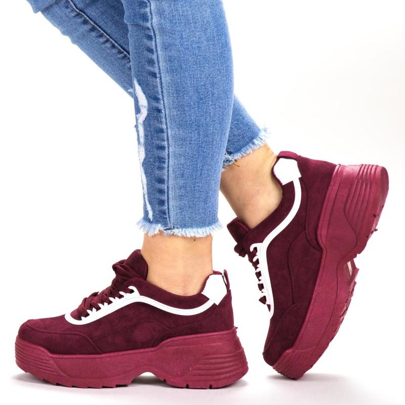 Pantofi Sport Dama BF004 Burgundy Botinelli