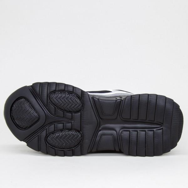 Pantofi Sport Barbati A-60 Black-White Sport Fashion