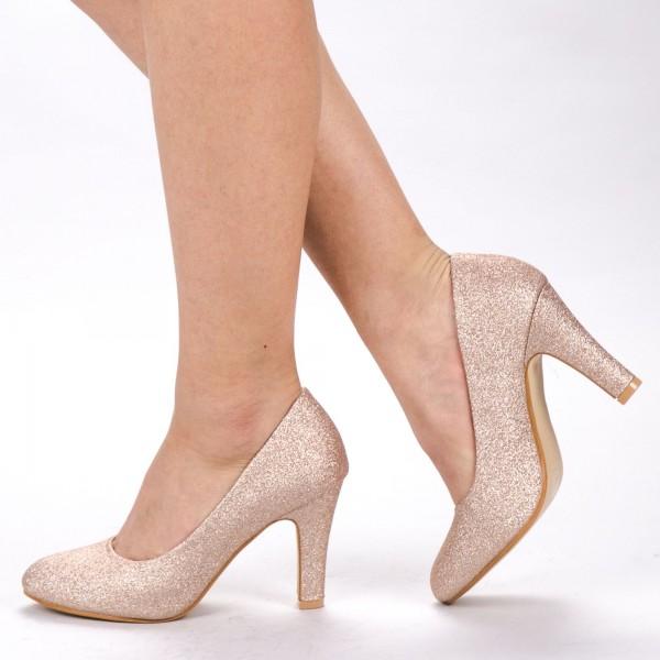 Pantofi cu Toc YXD3 Champagne Mei