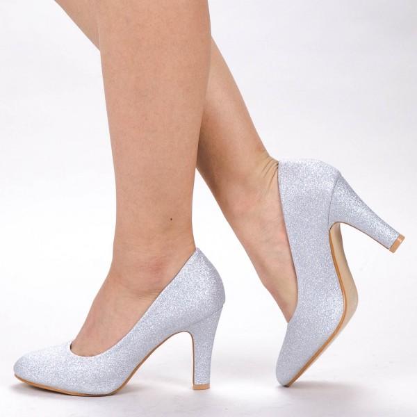 Pantofi cu Toc YXD3 Silver Mei