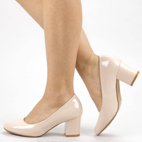 Pantofi cu Toc XKK251B Nude Mei