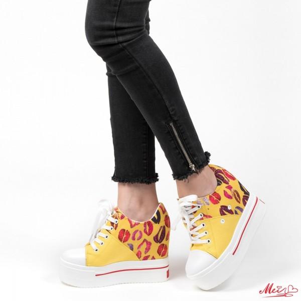 Pantofi Sport Dama cu Platforma SJN70 Yellow Mei