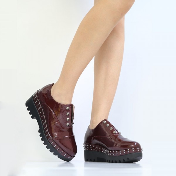 Pantofi Casual Dama LM182 Winered Mei