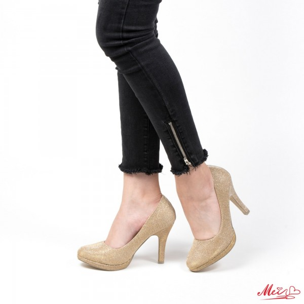 Pantofi cu Toc WT136 Gold Mei