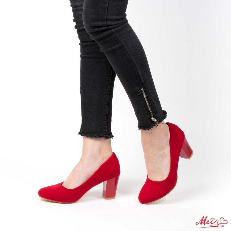 Pantofi cu Toc QZL25A Red Mei