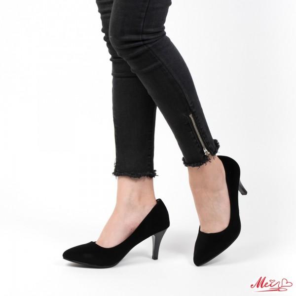 Pantofi cu Toc QZL67 Black Mei