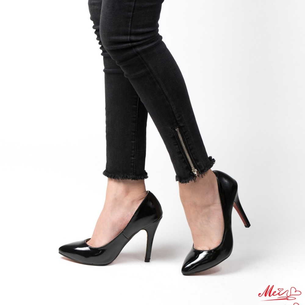 Pantofi cu Toc OL0143-1 Black Mei