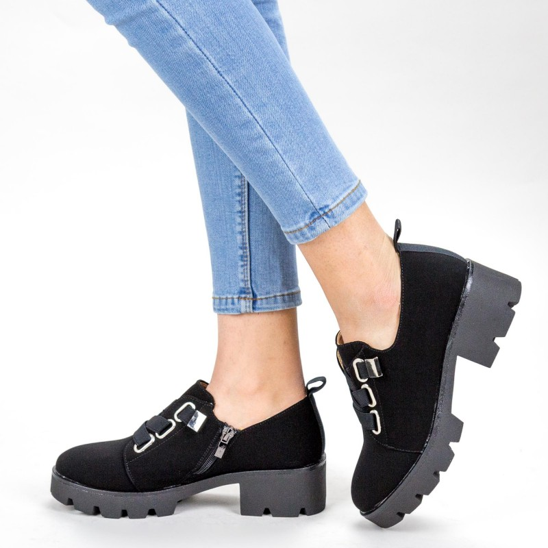 Pantofi Casual Dama ZP1975 Black Mei