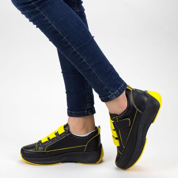 Pantofi Sport Dama XC7 01 BLACK-YELLOW MEI