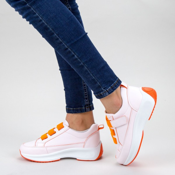 Pantofi Sport Dama XC7 04 WHITE-ORANGE MEI