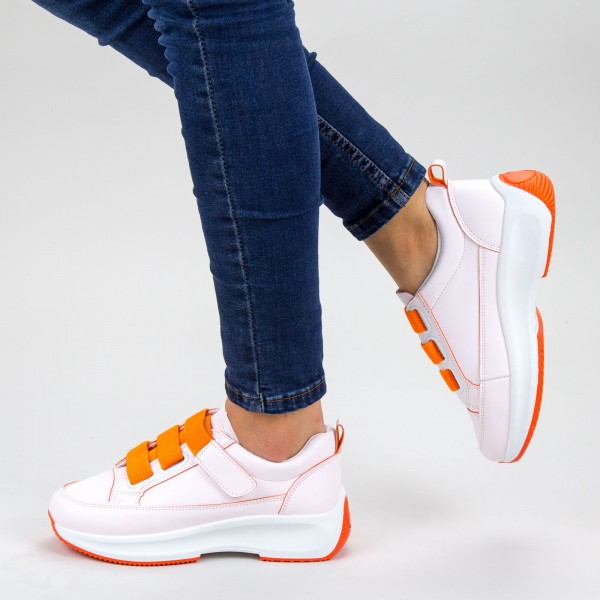 Pantofi Sport Dama XC7 04 WHITE-ORANGE MEI