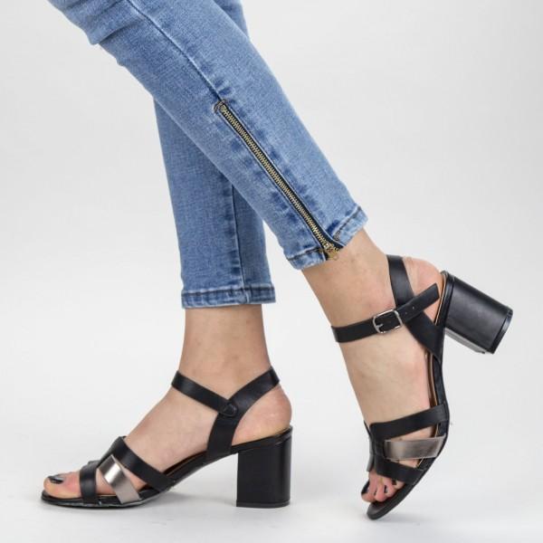Sandale Dama cu Toc gros CS78 Black Mei