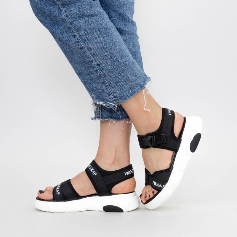 Sandale Dama WZ12 Black Mei