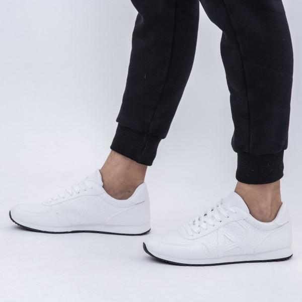 Pantofi Sport Barbati 6651 White DCF68