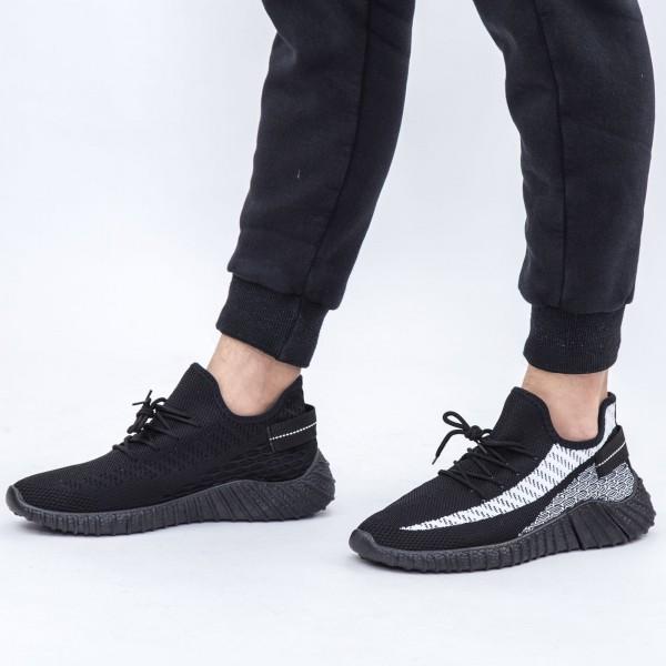Pantofi Sport Barbati D728 Black-White Se7en
