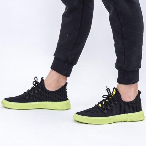 Pantofi Sport Barbati D727 Black-Green Se7en