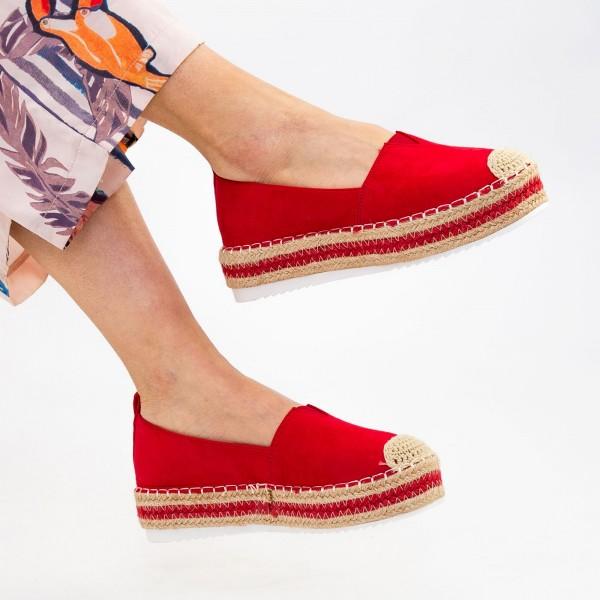 Pantofi Casual Dama cu Platforma FS7 Red Mei