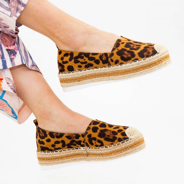 Pantofi Casual Dama cu Platforma FS7 Leopard Mei