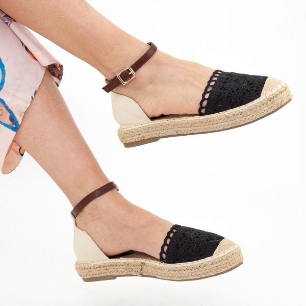 Sandale Dama cu Toc si Platforma HJ3 Black Mei
