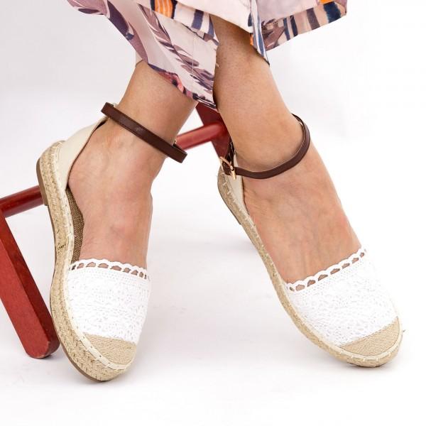 Sandale Dama cu Toc si Platforma HJ3 White Mei