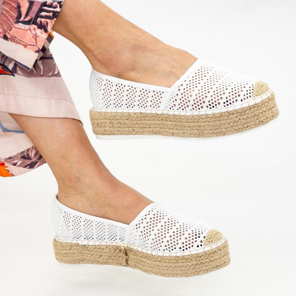 Pantofi Casual Dama HJ5 White Mei