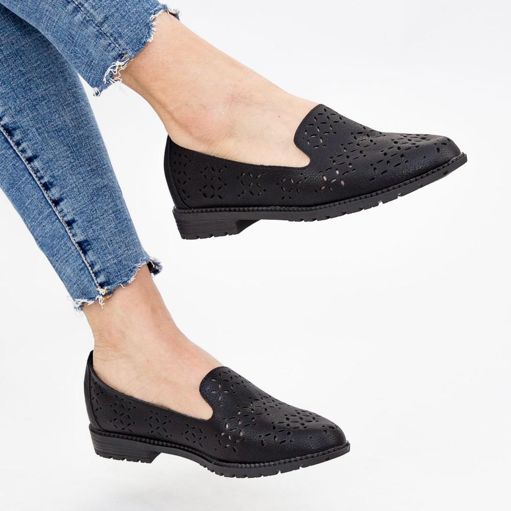 Pantofi Casual Dama YEH10 Black Mei