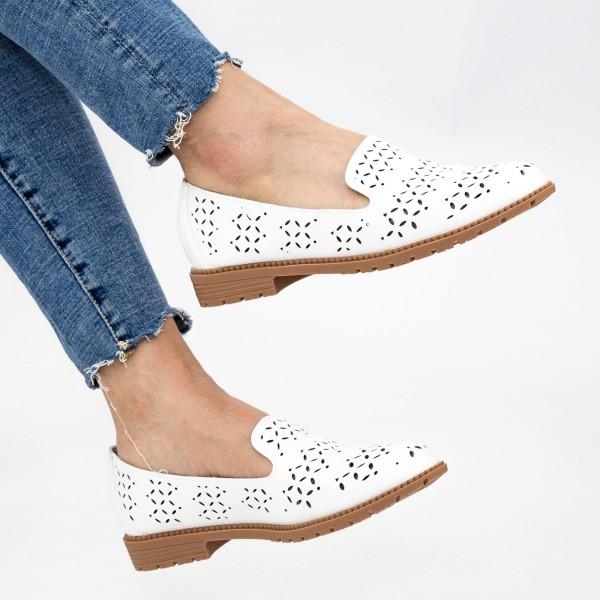 Pantofi Casual Dama YEH10 White Mei