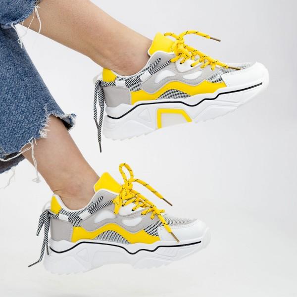 Pantofi Sport Dama YKQ207 Yellow Mei