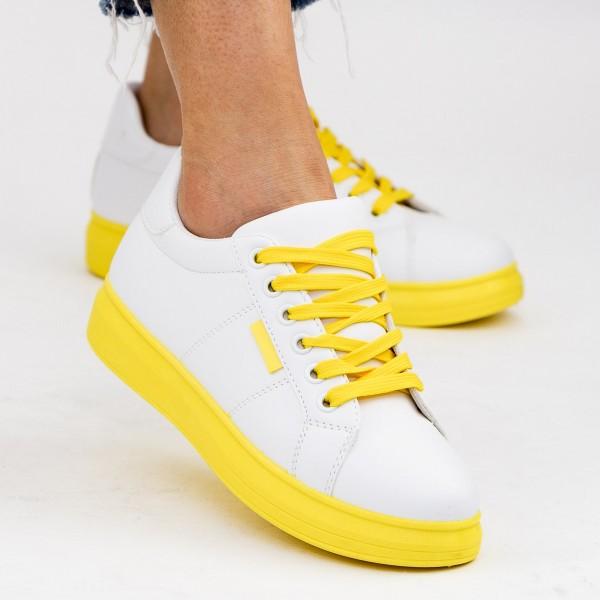 Tenisi Dama YKQ191 White-Yellow Mei