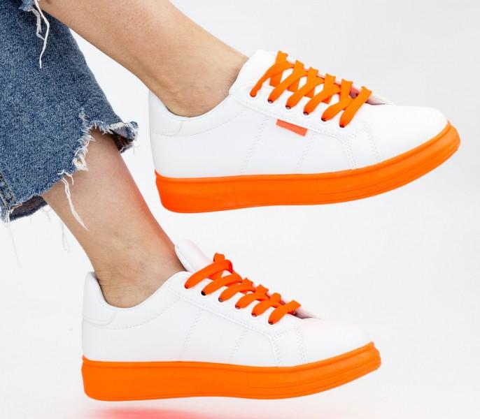Tenisi Dama YKQ191 White-Orange Mei