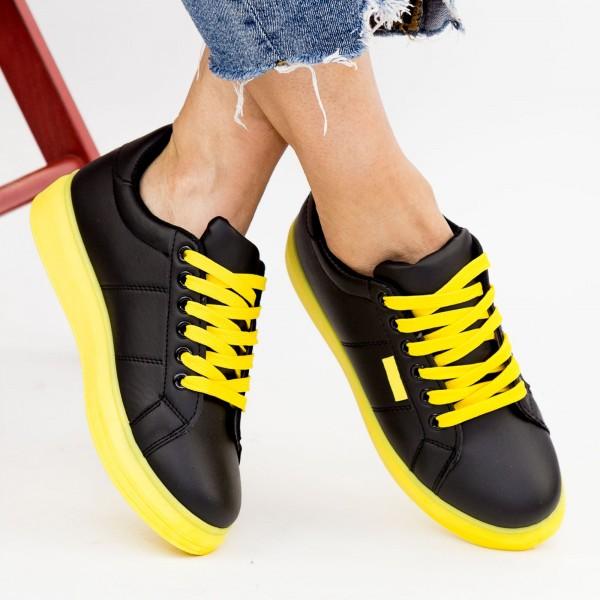 Tenisi Dama YKQ191 Black-Yellow Mei