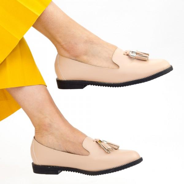 Pantofi Casual Dama YEH6 Beige Mei