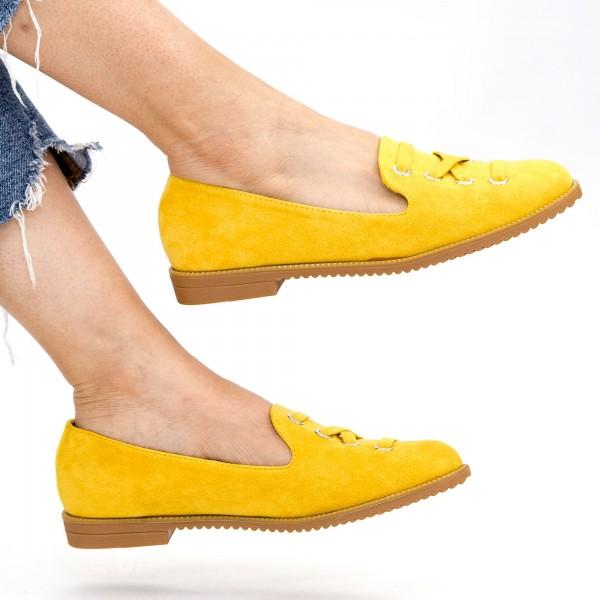 Pantofi Casual Dama WH12 Yellow Mei