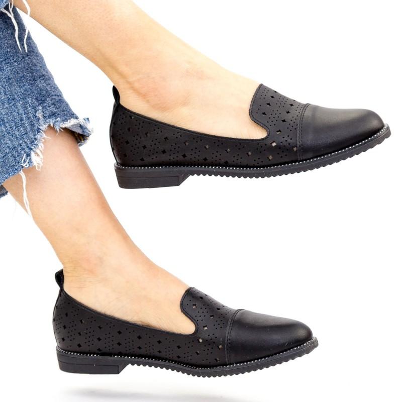 Pantofi Casual Dama YEH15 Black Mei