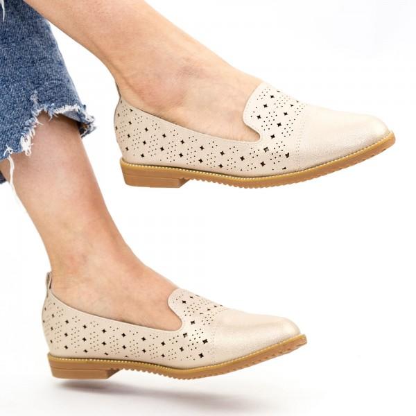 Pantofi Casual Dama YEH15 Champagne Mei