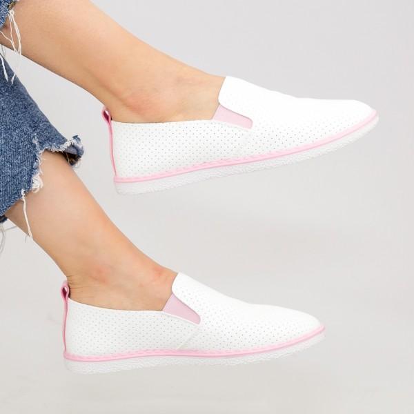 Pantofi Casual Dama D712 White-Pink Se7en