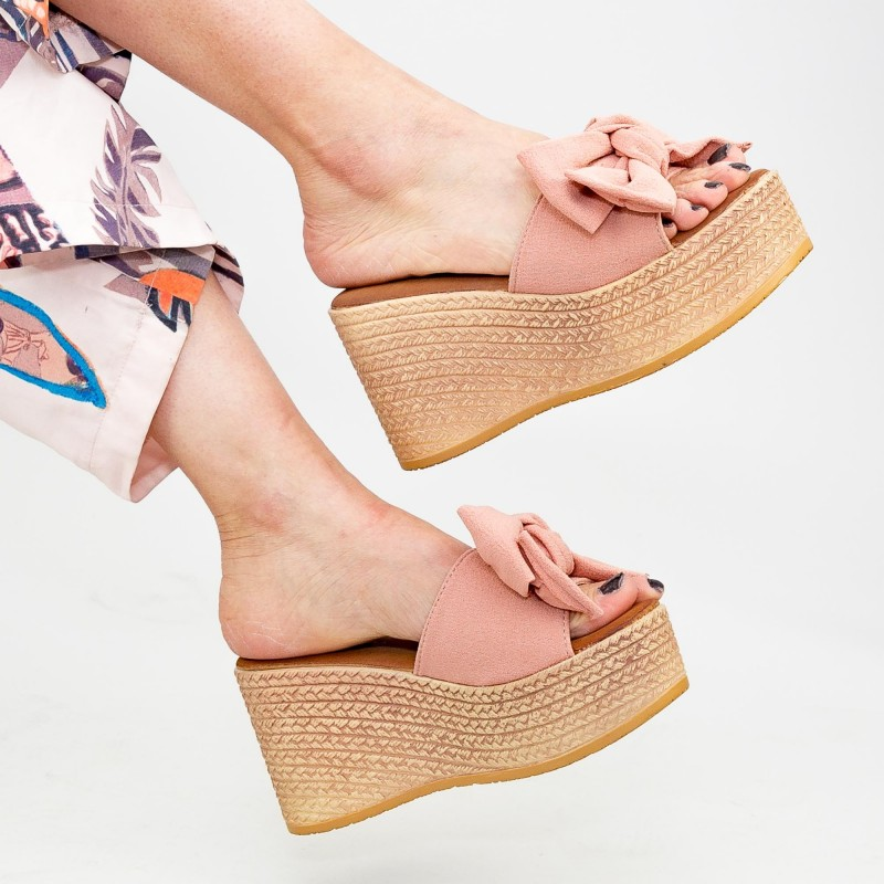 Papuci cu Platforma Dama WS117 Pink Mei