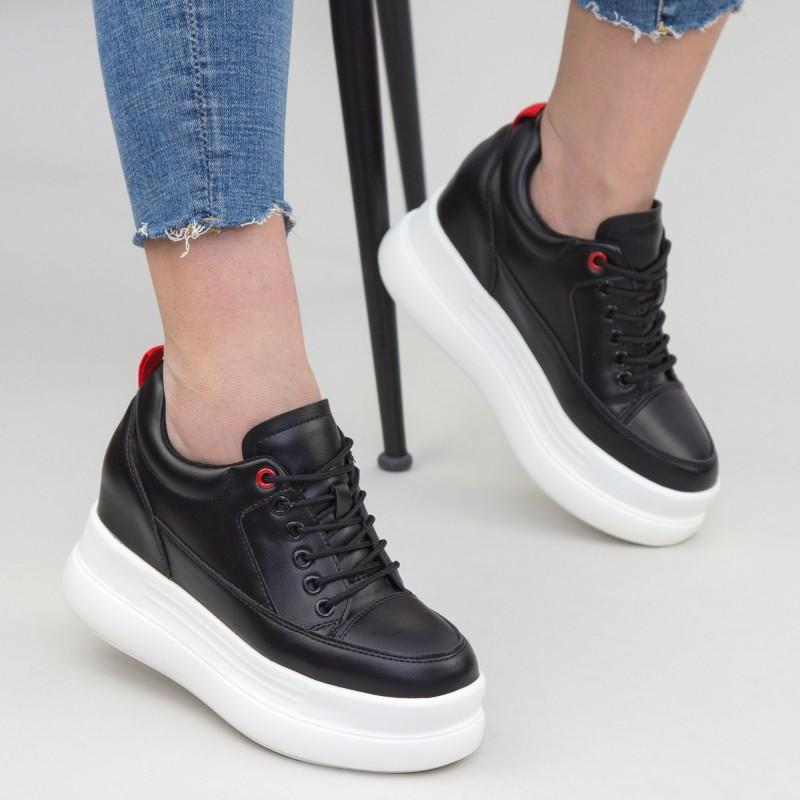 Pantofi Sport cu Platforma Dama SJN261 Black Mei