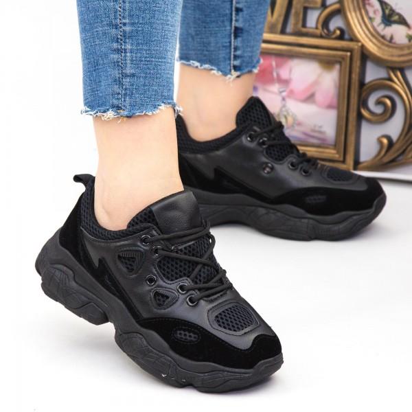 Pantofi Sport Dama HZL1 All-Black Mei