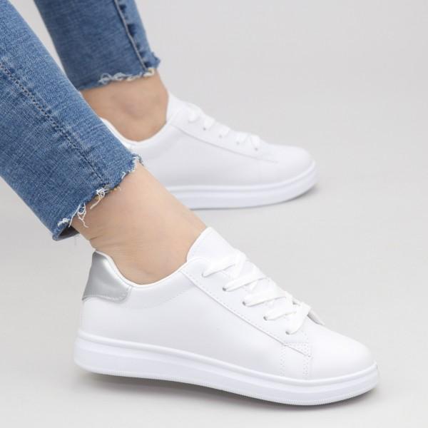 Pantofi Sport Dama WS173 White-silver Mei