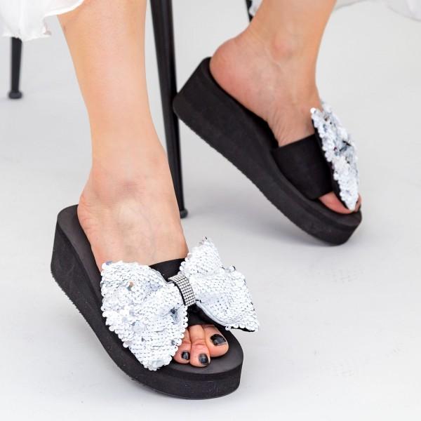 Papuci cu Platforma Dama TG2 White Mei
